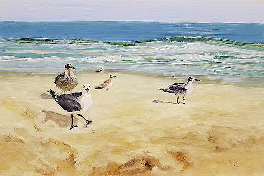 Beach Stroll by Susan E Hanna