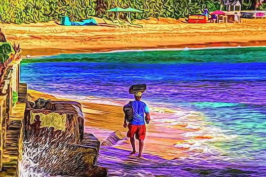 Beach Vendor Art Barbados by David Pyatt