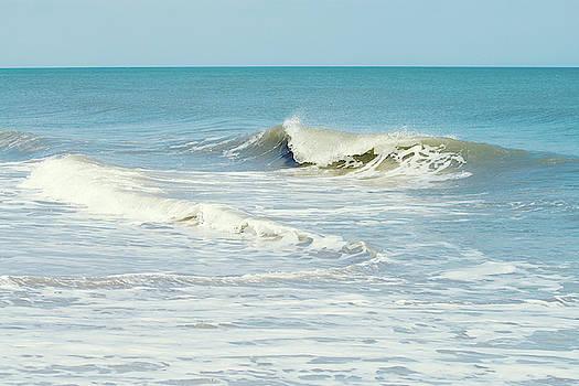 Beach Wave Art by Stephanie McDowell