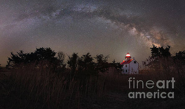 Beacon Of Light Under The Stars by Michael Ver Sprill