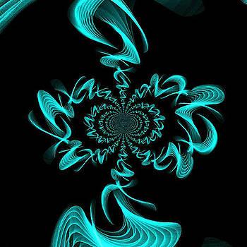 Beautiful Blue fractal by Ronni Dewey