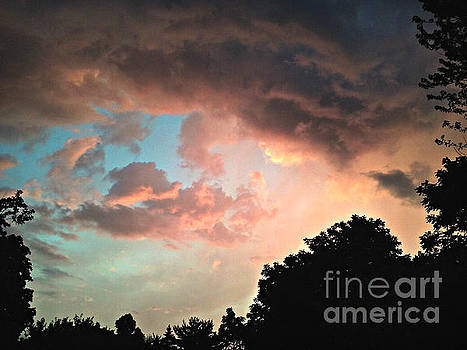 Beautiful Colored Sky by Frank J Casella