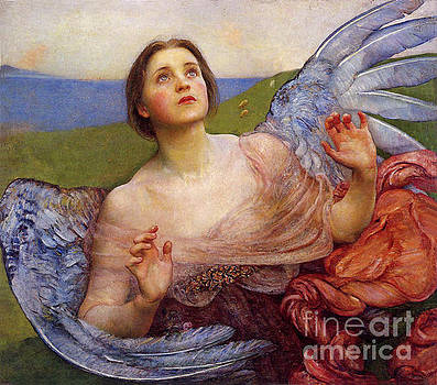 Tina Lavoie - The Sense of Sight, Beautiful Angel antique spiritual art