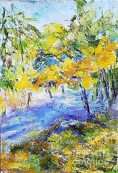 Beautiful landscape in botanical garden by Olga Malamud-Pavlovich