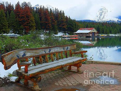 Beautiful Maligne Lake Jasper National Park Alberta Canada by Art Sandi