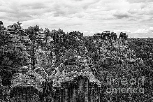 Patricia Hofmeester - Beautiful rock formations in Germany in Black and White