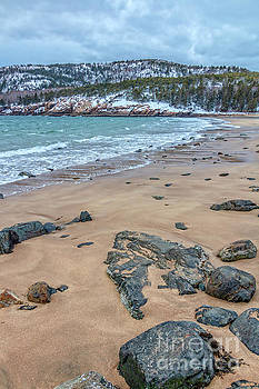 Beautiful Sand Beach Acadia National Park by Elizabeth Dow