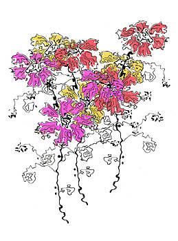 Beautiful, semi-abstract flower bouquet by Steve Clarke