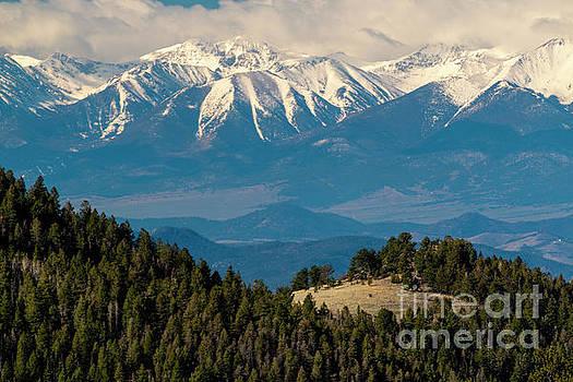 Beautiful Snow Capped Sangre de Cristo Range by Steve Krull