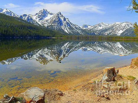 Beautiful Stanley Lake Sawtooth Mountains Stanley Idaho by Art Sandi