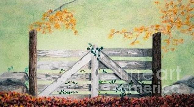 Bedford Fence by Glenda Zuckerman