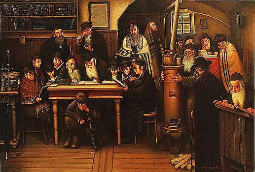 Beit Midrash in the Jewish Slobodka.  by Eduard Gurevich