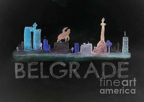 Belgrade at Night - skyline by Vesna Antic