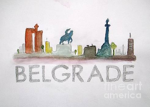 Belgrade Skyline by Vesna Antic