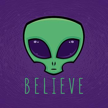 Believe Alien Head by John Schwegel