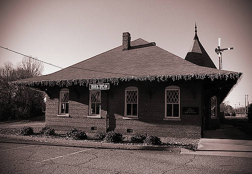 Belton South Carolina Depot 21 B W 1 by Joseph C Hinson