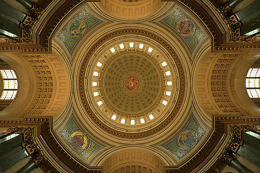 Beneath The Dome Wisconsin State Capital by Steve Gadomski