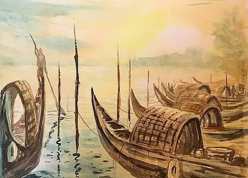 Bengal Boats at Sunset point by Kannan Ananthasubramani