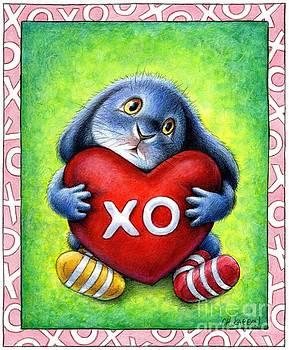 Christine Karron - Benny Blue Heart Pillow