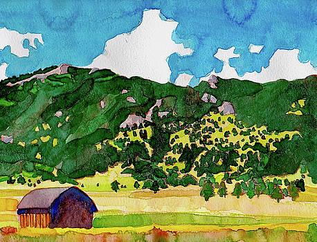 Bergen Peak Summer Watercolor by Dan Miller