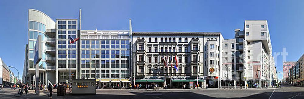 Berlin Checkpoint Charlie Streetline by Joerg Dietrich