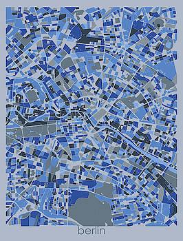 Berlin Map Retro 5 by Bekim M