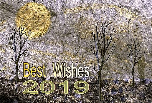 Best Wishes 2019 Gold by Mimo Krouzian