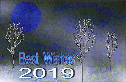 Best Wishes 2019 Purple by Mimo Krouzian