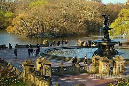 Bethesda Fountain, Early Spring - Central Park New York by Miriam Danar