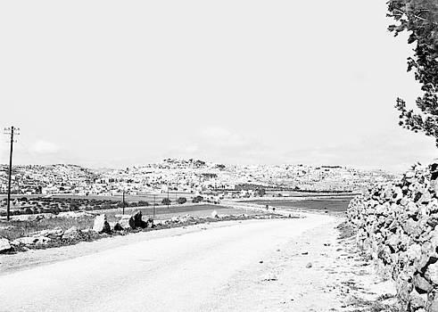 Bethlehem from the East 1950 by Munir Alawi