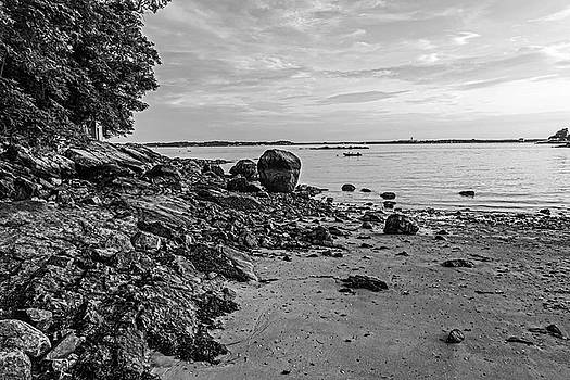 Toby McGuire - Beverly MA Rocky Coast Black and White