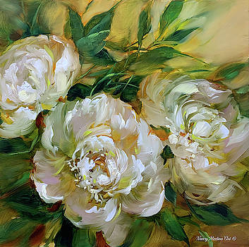Beyond Today White Peonies by Nancy Medina