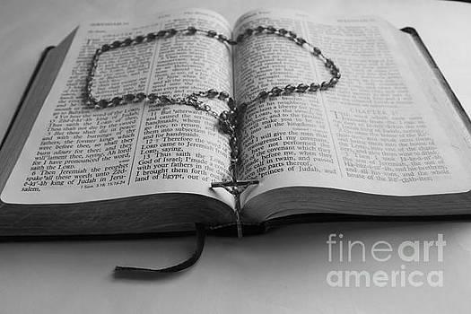Bible and Rosary  by Teresa Thomas