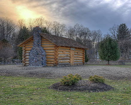 Bicentennial Cabin Sunset by Jeff Burcher