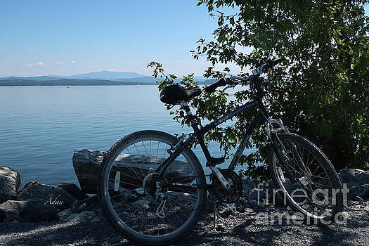 Felipe Adan Lerma - Bicycle View of Mt Mansfield from Island Line Trail