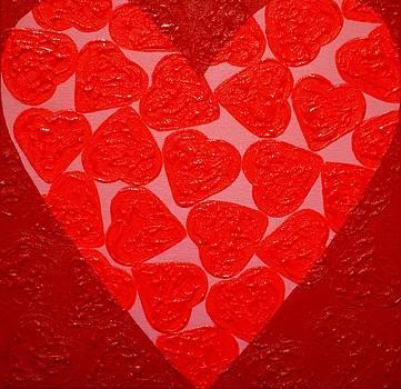Big Abstract Heart  by John  Nolan