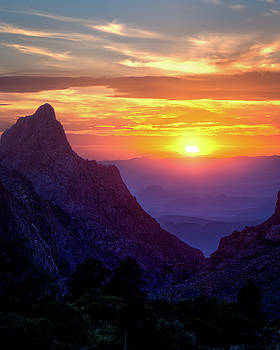 Big Bend Sunset  by Harriet Feagin