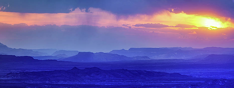 Big Bend Sunset Pano by Harriet Feagin