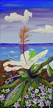 Big Hawaiin Flower by Phyllis Kaltenbach
