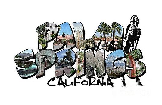 Big Letter Palm Springs California by Colleen Cornelius