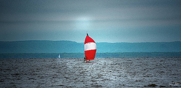 Big Red Sails by Phil S Addis