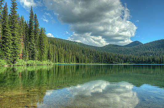 Big Therriault Lake in Montana by Constance Puttkemery