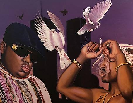 Biggie and Tupac by Harry T Ellis
