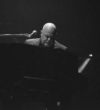 Billy Joel in black and white by Alan Goldberg