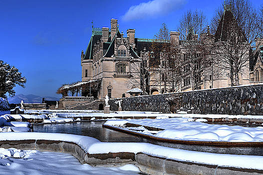 Biltmore Itailian Gardens Covered In Snow by Carol Montoya