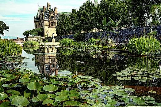 Biltmore Reflection In The Italian Gardens by Carol Montoya