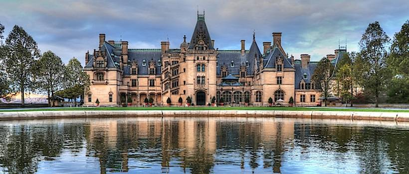 Biltmore Reflection Through The Fountain  by Carol Montoya
