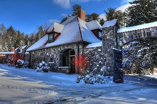 BIltmore Walled Garden in Winter Caretakers House by Carol Montoya