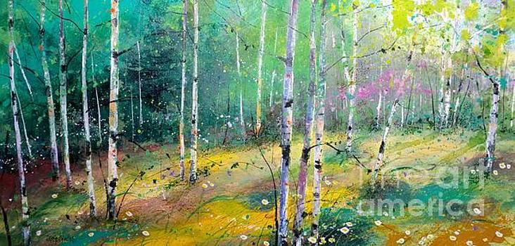 Birch Springtime by Diane Splinter