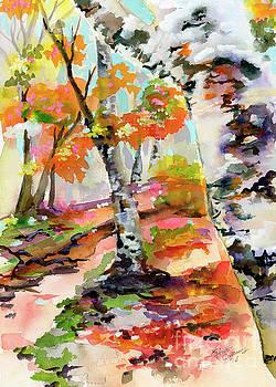 Ginette Callaway - Birch Trees Around the Bend